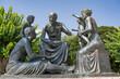 canvas print picture - Denkmal für Hippokrates in Kos-Stadt, auf der Insel Kos, Griechenland