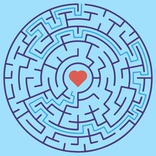 Circular Maze With Way From Ce...