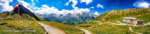 Papel de parede Großglockner-Hochalpenstraße mit Blick auf die Hohen Tauern, Alpen, Österreich