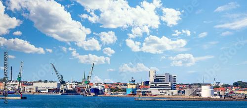 Shipyard city in Denmark Fototapet