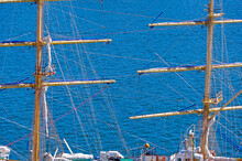 Masts And Rigging Of A Sailing...