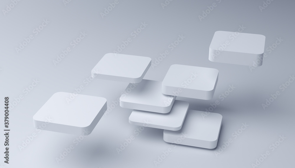 Fototapeta Abstract 3d render, modern geometric background, graphic design