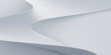 Abstract 3d Render, White Back...
