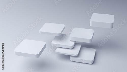 Fototapeta Abstract 3d render, modern geometric background, graphic design obraz