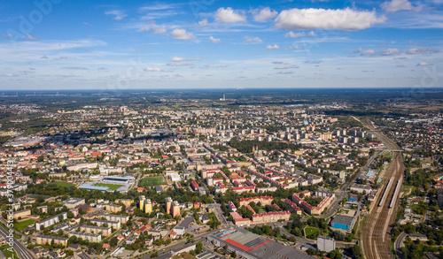 Fototapeta Panorama miasta Radom - Krajobraz z lotu ptaka - pejzaż obraz