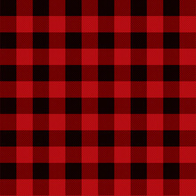 Red And Black Checkered Pattern