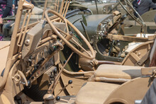 Dashboard Of An Old Army Jeep