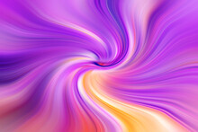 Abstract Colourful Illustration. Interesting, Swirling, Abstract Background Or Texture With Shades Of Purple, Orange, Yellow, Violet, Blue Flowing Outwards From The Center Becoming Soft