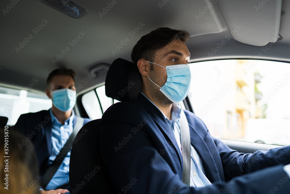 Fototapeta People Carpooling And Car Sharing