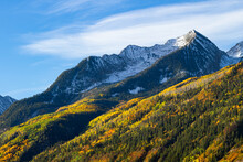 Beautiful Autumn Color In The San Juan Mountains Of Colorado. Autumn On McClure Pass.