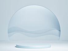 Mockup Podium, Abstract Geomet...