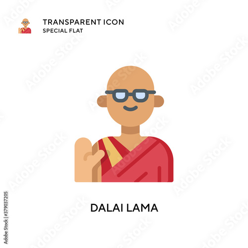 Tela Dalai lama vector icon. Flat style illustration. EPS 10 vector.
