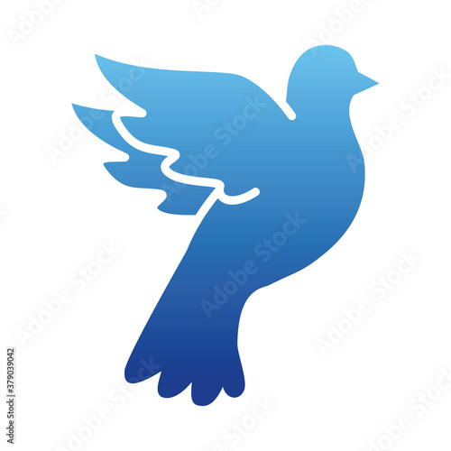 peace dove icon, gradient style Wallpaper Mural