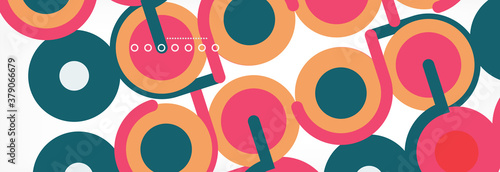 Fototapeta Circles and lines abstract background for covers, banners, flyers and posters and other templates obraz
