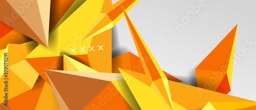 Fototapeta 3d low poly abstract shape background vector illustration obraz