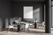 Stylish Dark Gray Cafe Interio...