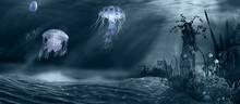 Jellyfish And Ruins