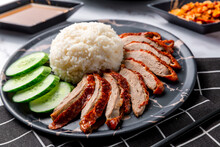 Rice Roasted Duck With Sauce. ...