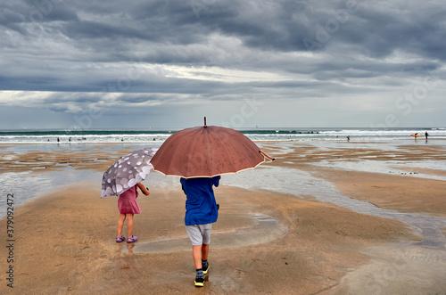 Fotografia La playa un día de tormenta