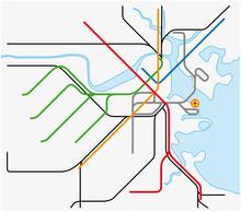Subway Vector Map Of Boston, M...
