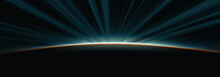 Sunrise From Space Aurora, 3d ...