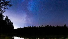 Milkyway Over Lake In Finland ...