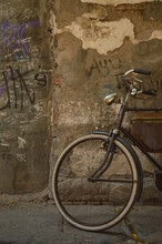 Old Bicycle In The Street