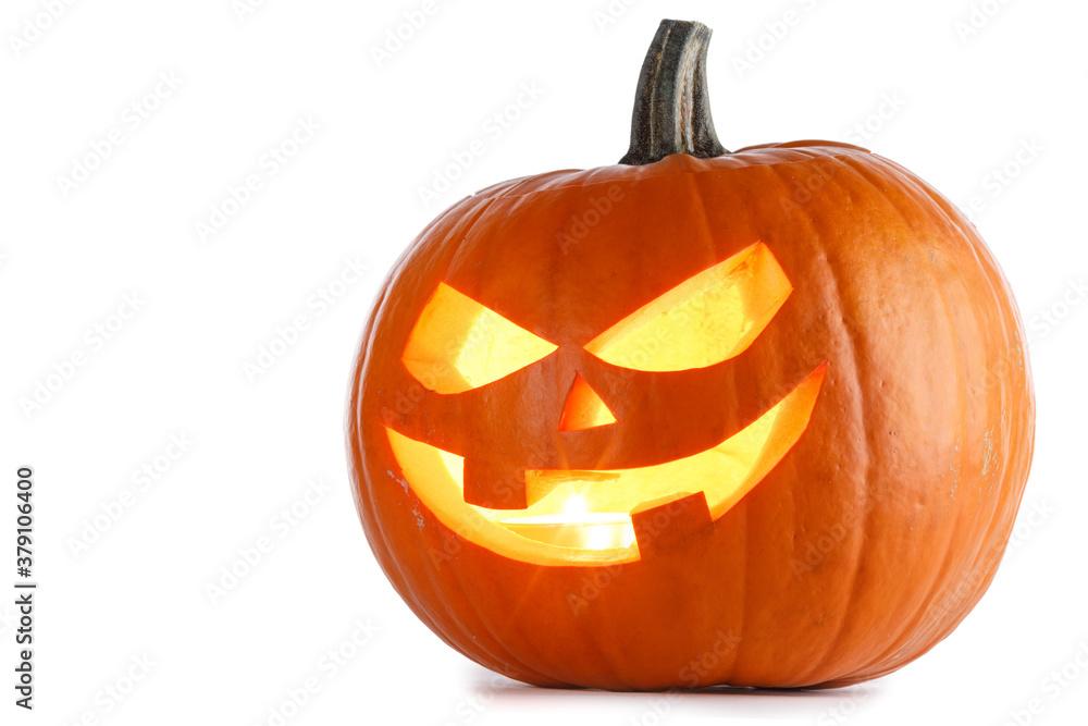 Fototapeta Halloween Pumpkin isolated on white