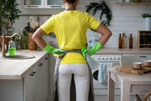 A Maid In An Apron, Yellow Rub...