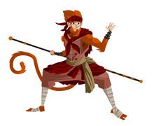 Sun Wukong The Monkey King Chinese Mythology Warrior Tale