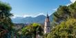 canvas print picture - Blick auf Meran Südtirol