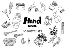 Set Of Hand Made Cosmetic Obje...