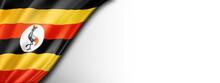 Uganda Flag Isolated On White ...
