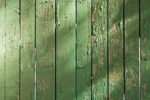 A Close Up Of A Green Door