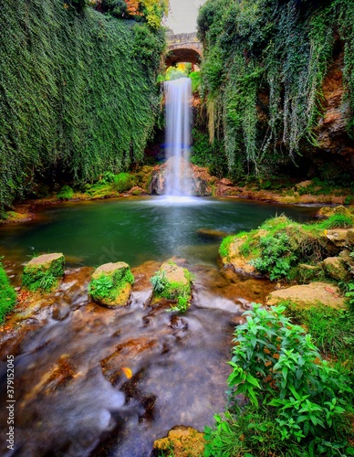 waterfall in the forest - 379152045