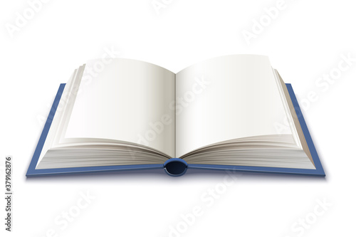 Vector 3d hardcover open book symbol of knowledge