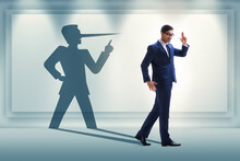 Concept Of Businessman Liar Wi...