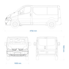 Van Vector Template For Car Branding And Advertising. Light Commercial Van Marketed By Multiple Brands - Second-generation. Truck Blueprint. Delivery Truck Empty Template. Blank Commercial Truck.