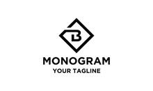 Initial B Monogram Simple