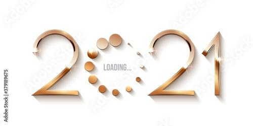Obraz na plátně Happy 2021 new year loading concept