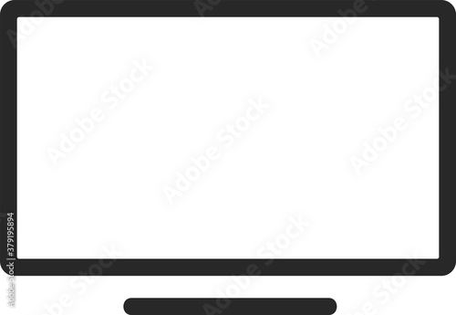 Fotografering Outline tv icon isolated on white background