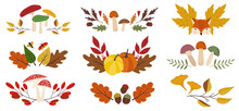 Set Of 9 Autumn Fall Compositi...