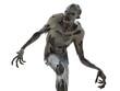 Zombie monster isolated on white 3d illustration