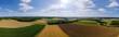 canvas print picture - Ackerbau und weizen feld im hohenloher land hohenlohe landwirtschaft