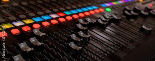 Fotografija buttons equipment for sound mixer control, equipment for sound mixer control, el