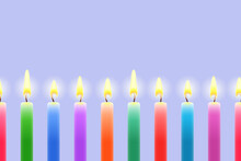 Many Burning Colored Candles, ...