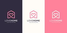 Love Home Logo Designs Templat...