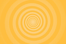 Yellow Spiral Background. Swirl, Circular Shape On Yellow Background
