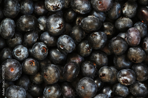 Stampa su Tela Background formed with ripe blueberry