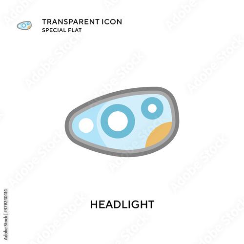 Fototapeta Headlight vector icon. Flat style illustration. EPS 10 vector. obraz na płótnie